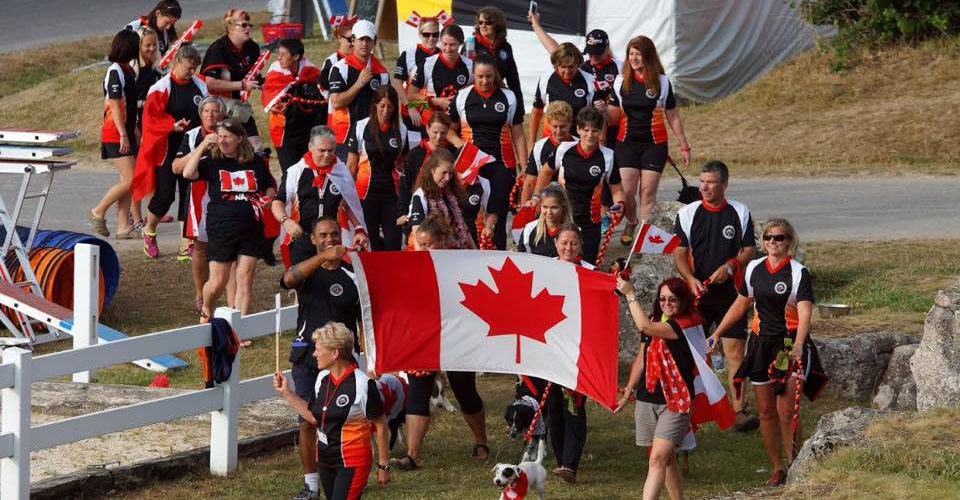 2015 EO Agility Team Canada at Opening Ceremonies